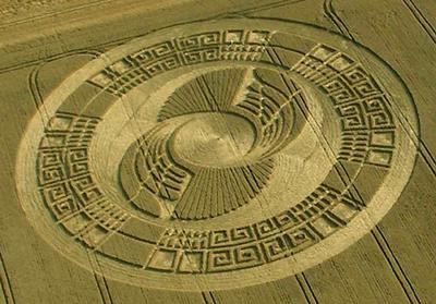 Mayan crop circle, UK 2004