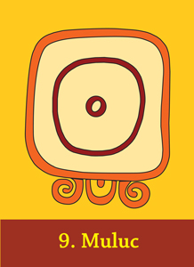 Day-sign Muluc from the Maya Cards