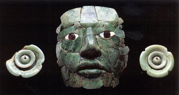 Mayan jade mask