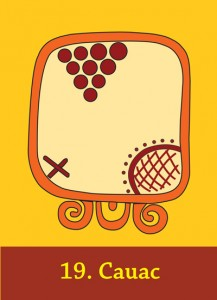 The Mayan Sign Cauac from the Maya Cards