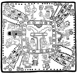 Flower of the Tzolkin Mayan Calendar - Madrid Codex