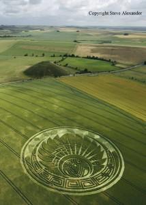 Mayan crop circle, UK 2009