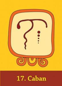 Maya Cards - the day-sign Caban