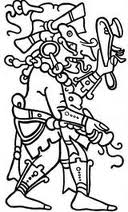 God Chac with its lightning axe