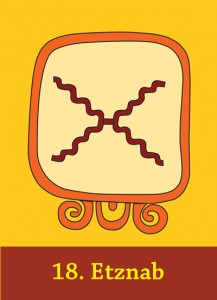 The Mayan sign ETZNAB - Maya Cards