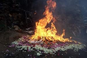 Quiché Mayan New Year fire