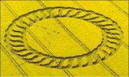 Beltane Wheel Crop Circle, May 1998 UK